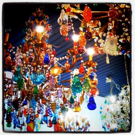 My chandalier, at Murano glass island.